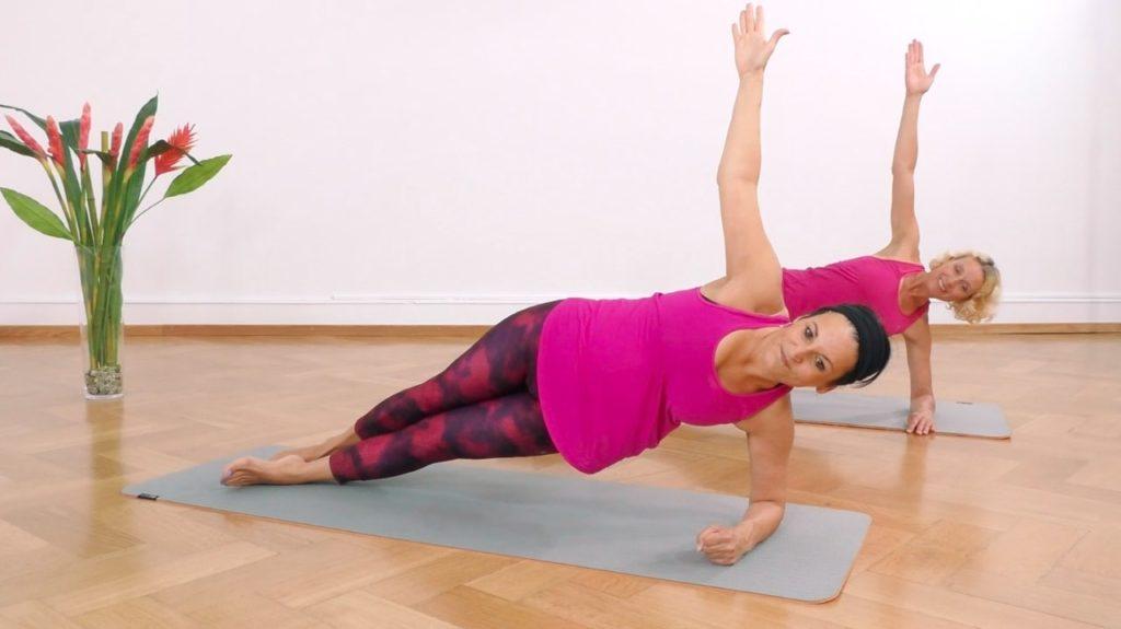 Yoga Übung zum Abnehmen: der Seitwärtsstütz